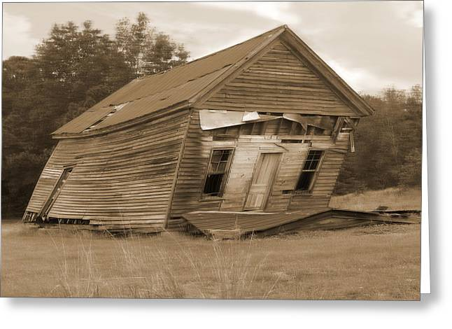 Old Structure Greeting Cards - Going Down Greeting Card by Mike McGlothlen