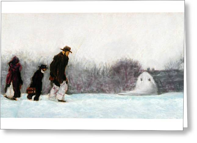 Going Home Greeting Card by Barry Rothstein