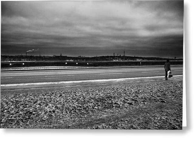 Walk Alone Greeting Cards - Going Home...stockholm Greeting Card by Stylianos Kleanthous