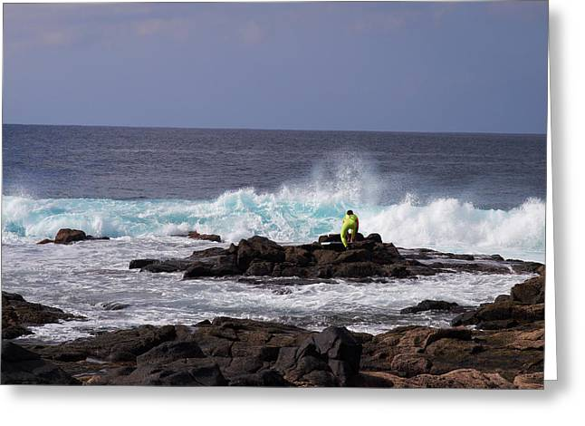 Playa Blanca Greeting Cards - Going out Greeting Card by Jouko Lehto