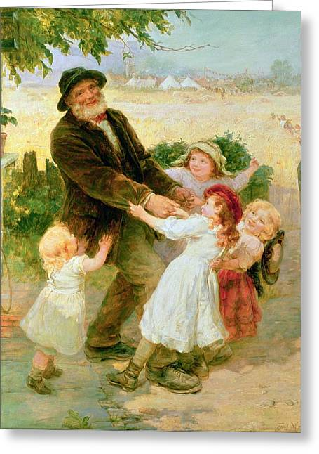 Kid Paintings Greeting Cards - Going to the Fair Greeting Card by Frederick Morgan