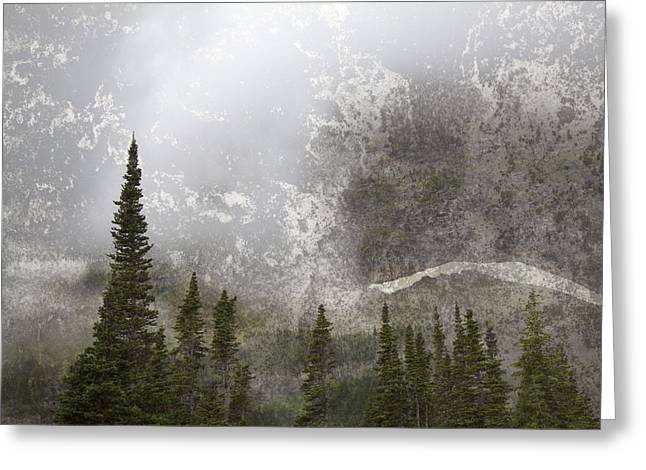 Geologic Formations Greeting Cards - Going To The Sun Road Greeting Card by John Stephens