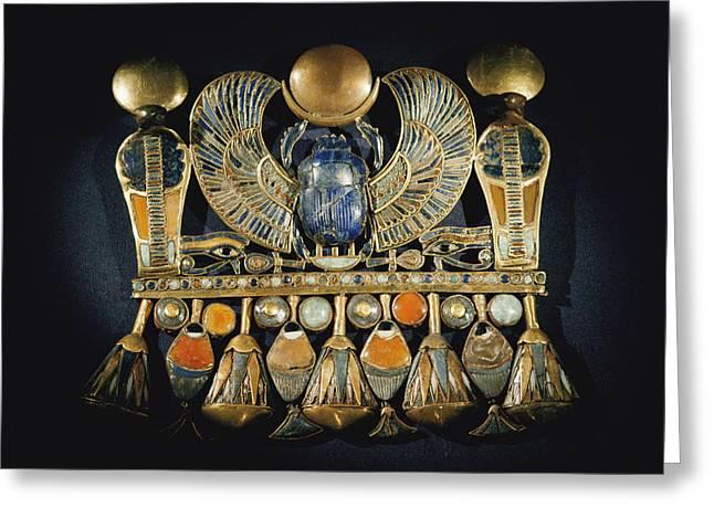 Gold And Semiprecious Stone Pendant Greeting Card by Kenneth Garrett