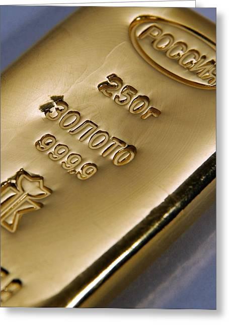 Gold Bullion Greeting Card by Ria Novosti