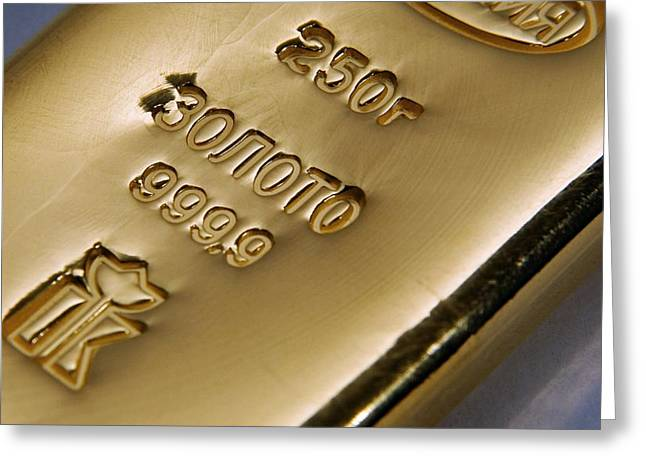 Gold Bullion Greeting Card by Ria Novosti