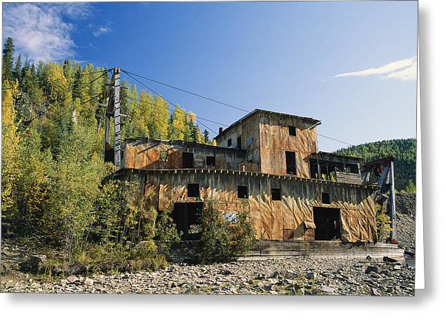 Gold Dredge No. 1 In Wade Creek, Built Greeting Card by Rich Reid