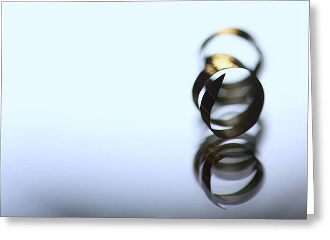 Gold Ring Greeting Cards - Gold fingered Greeting Card by Russell Styles