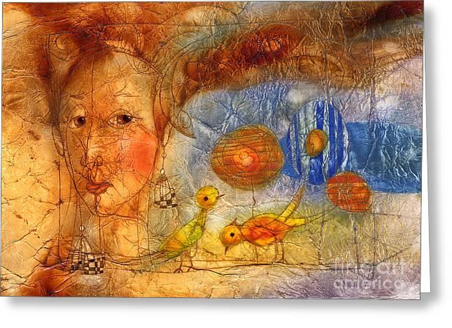 Golds Greeting Cards - Gold grains  Greeting Card by Svetlana and Sabir Gadghievs
