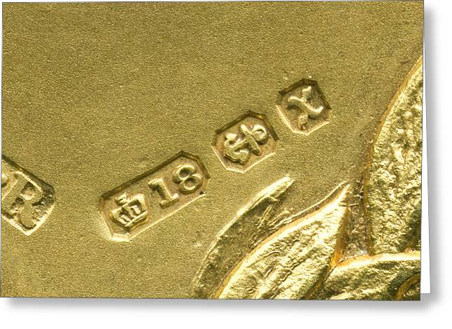 Gold Hallmarks, 1897 Greeting Card by Sheila Terry