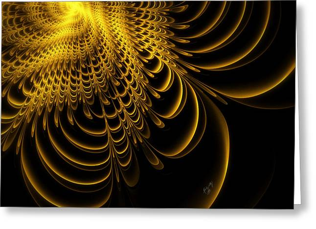 Gold Lame' Greeting Card by Karla White