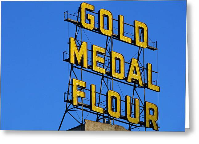 Pillsbury Greeting Cards - Gold Medal Flour Greeting Card by Norm Holmberg