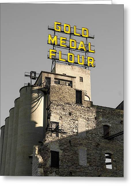 Up201209 Greeting Cards - Gold Medal Flour Seven Greeting Card by Josh Whalen