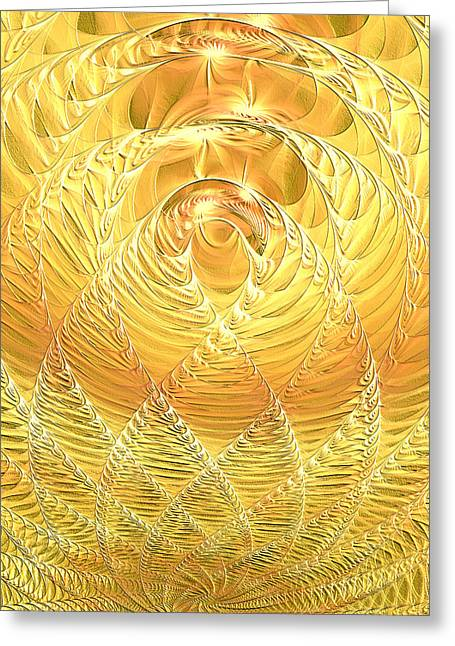 Lea Wiggins Greeting Cards - Gold Pressed Latinum Greeting Card by Lea Wiggins
