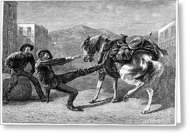 1876 Greeting Cards - Gold Prospectors, 1876 Greeting Card by Granger