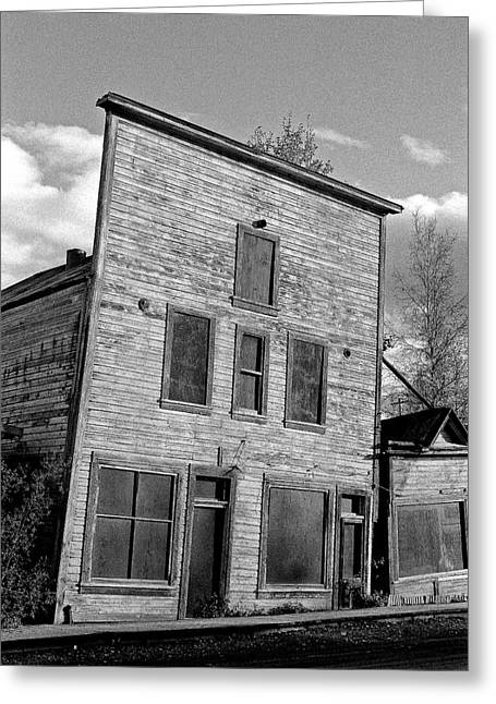 Klondike Gold Rush Greeting Cards - Gold Rush Saloon - Dawson City Greeting Card by Juergen Weiss