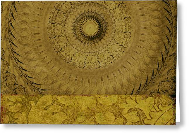 Gold Wheel I Greeting Card by Ricki Mountain