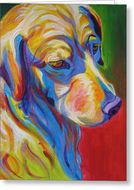 Alicia Vannoy Call Greeting Cards - Golden - Max Greeting Card by Alicia VanNoy Call