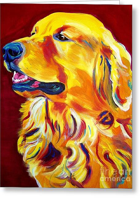 Alicia Vannoy Call Paintings Greeting Cards - Golden - Scout Greeting Card by Alicia VanNoy Call