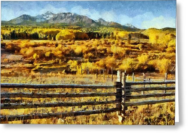 Golden Autumn Greeting Card by Jeff Kolker