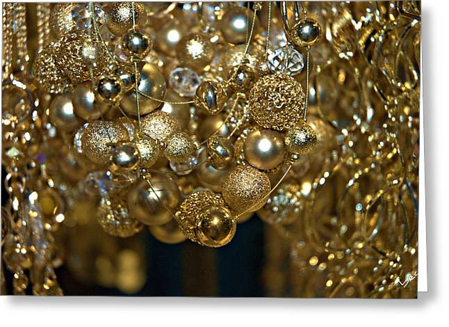 Gold Necklace Greeting Cards - Golden Baubles Greeting Card by Bruce Carpenter