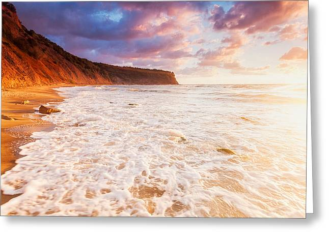 Irakli Greeting Cards - Golden Bay Greeting Card by Evgeni Dinev