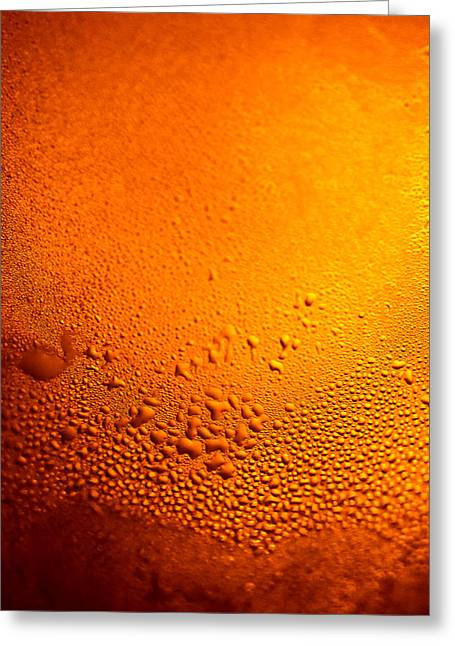 Amber Beer Greeting Cards - Golden beads Greeting Card by Anya Brewley schultheiss
