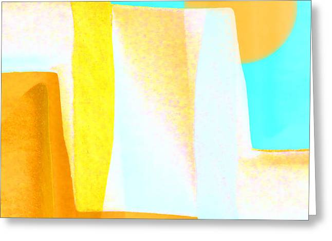 Golden Canyons Greeting Card by Carol Leigh