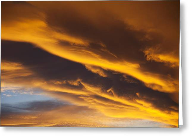 Golden Greeting Cards - Golden clouds Greeting Card by Garry Gay
