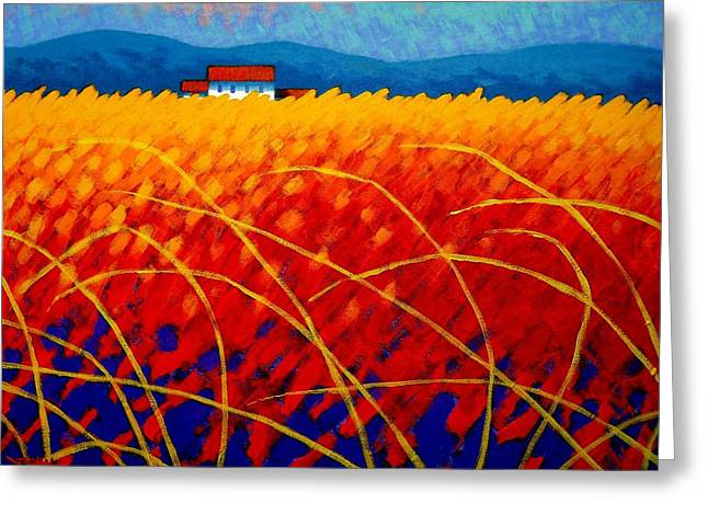 Layer Greeting Cards - Golden Cornfield Greeting Card by John  Nolan