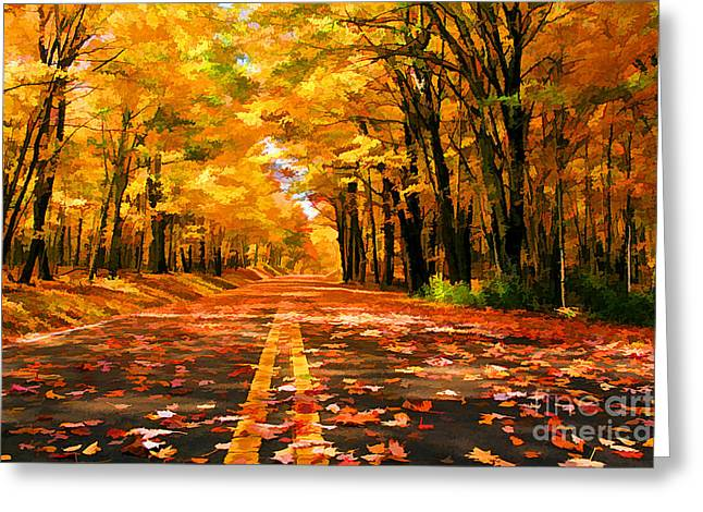 Branch Avenue Greeting Cards - Golden Greeting Card by Darren Fisher
