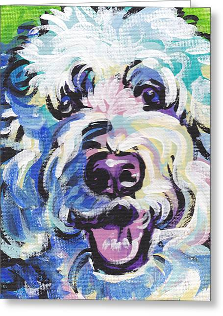 Puppies Greeting Cards - Golden Doodly Dee Greeting Card by Lea
