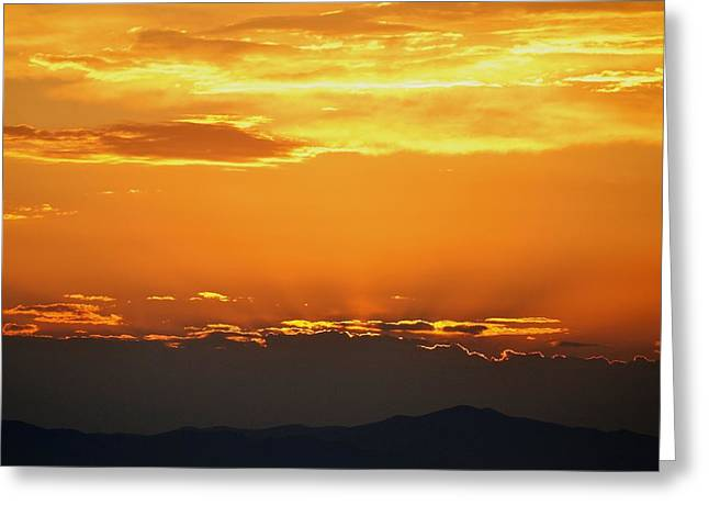 Sunset Posters Greeting Cards - Golden Evening Greeting Card by Kevin Bone