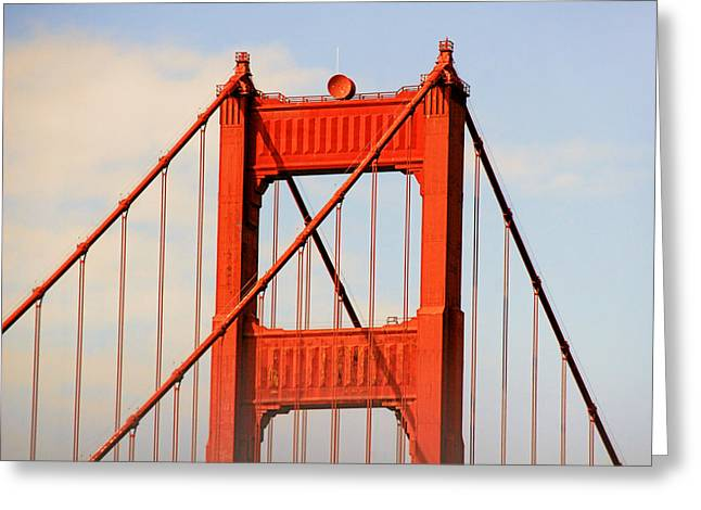 Famous Bridge Greeting Cards - Golden Gate Bridge - Nothing equals its majesty Greeting Card by Christine Till