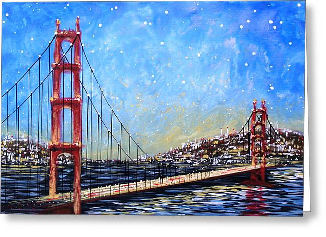 Recently Sold -  - Bay Bridge Greeting Cards - Golden Gate Bridge Greeting Card by Amy Giacomelli