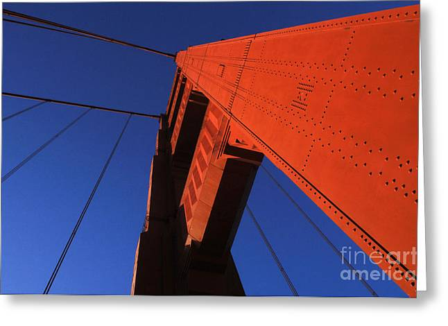San Francisco Famous Photographers Greeting Cards - Golden Gate Bridge Detail Greeting Card by Bob Christopher