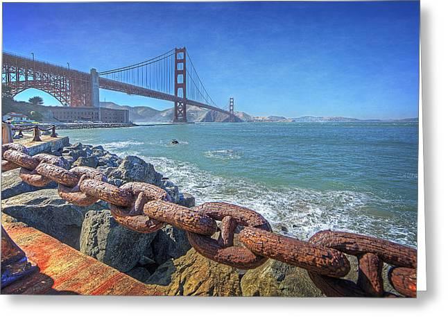 Golden Greeting Cards - Golden Gate Bridge Greeting Card by Everet Regal