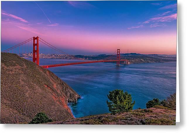 Nahmias Greeting Cards - Golden Gate bridge Greeting Card by Eyal Nahmias