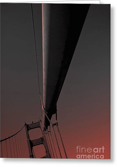 Olia Saunders Greeting Cards - Golden Gate Bridge San Francisco 3 Greeting Card by Design Remix
