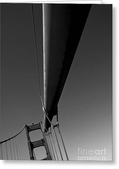 Olia Saunders Greeting Cards - Golden Gate Bridge San Francisco Black White Greeting Card by Design Remix