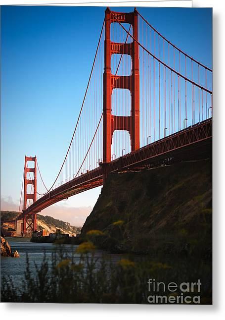 Sausalito Greeting Cards - Golden Gate Bridge Sausalito Greeting Card by Doug Sturgess