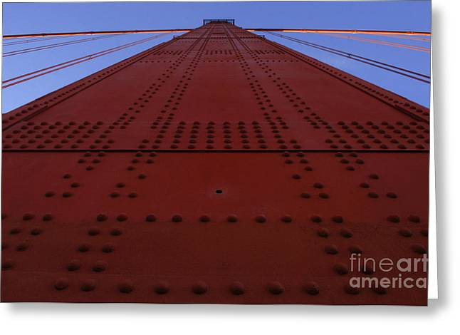 San Francisco Famous Photographers Greeting Cards - Golden Gate Bridge Vertical Greeting Card by Bob Christopher