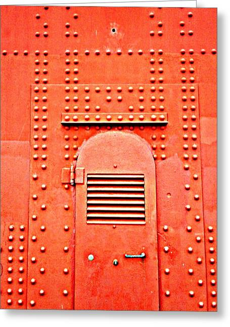 Golden Gate Paintings Greeting Cards - Golden Gate Door Greeting Card by Randall Weidner