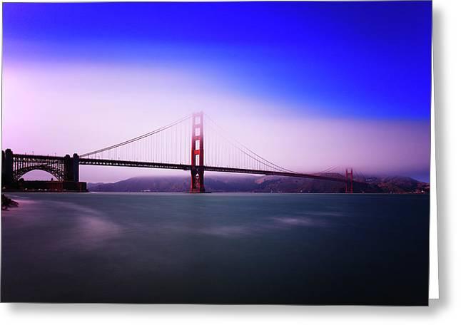 Golden Gate Greeting Cards - Golden Gate Fog Greeting Card by Rick Berk
