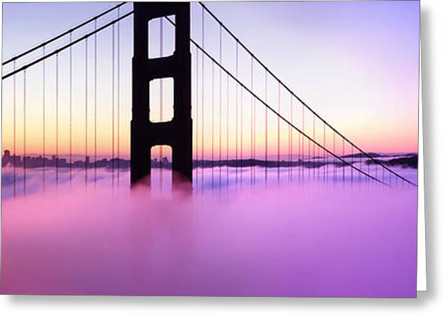 San Francisco Bay Greeting Cards - Golden Gate Sunrise Greeting Card by Steve Munch