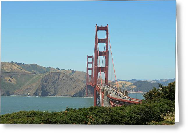 Golden Gate Greeting Card by Wendi Matson