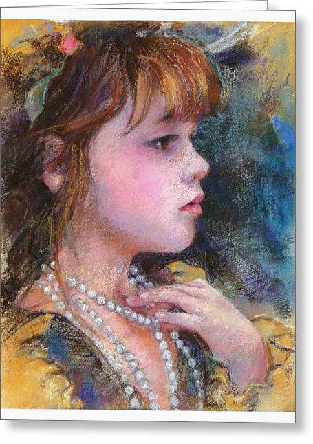 Debra Jones Greeting Cards - Golden Girl Greeting Card by Debra Jones