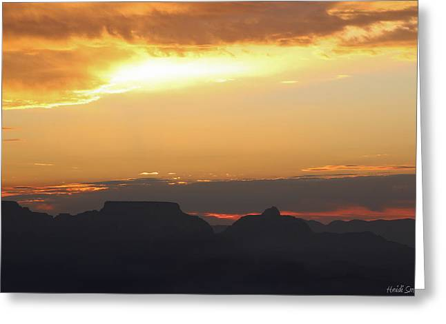 The Grand Canyon Greeting Cards - Golden Glow Greeting Card by Heidi Smith
