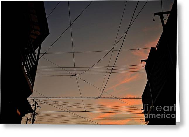 """""""japan City"""" Greeting Cards - Golden Hour Greeting Card by Dean Harte"""
