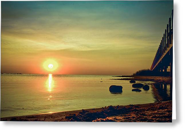 Sunset Prints Greeting Cards - Golden Hour Greeting Card by Jason Naudi Photography