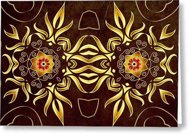 Daughter Gift Greeting Cards - Golden Infinity Greeting Card by Georgiana Romanovna